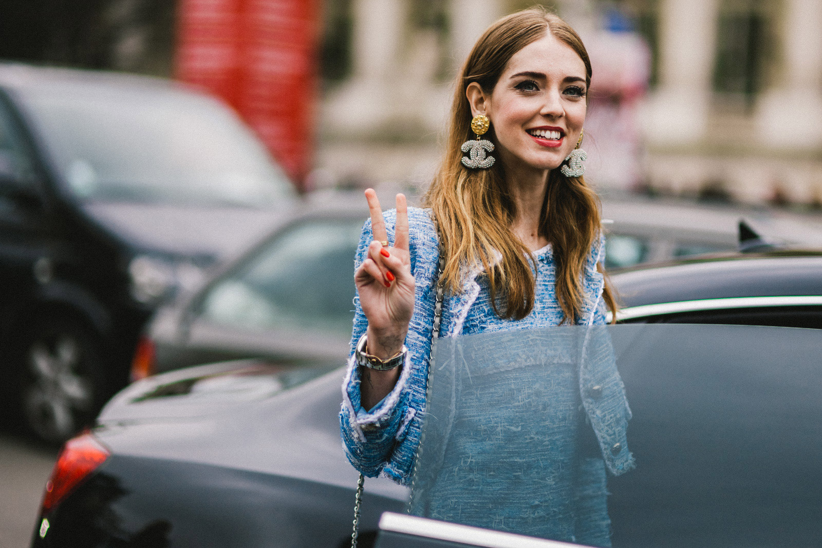Shotbygio George Angelis Chiara Ferragni Paris Fashion Week Fall Winter 2015 2016 Street Style
